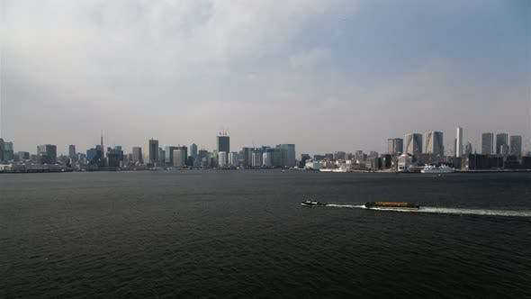 Thumbnail for Day Aerial Cityscape Waterway Sea Navigation Tokyo