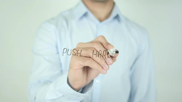 Thumbnail for Push Harder, Writing On Screen