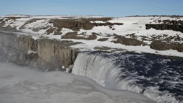 Dettifoss waterfall in Vatnajökull National Park