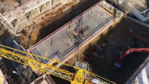Thumbnail for Crane Working on Building Construction