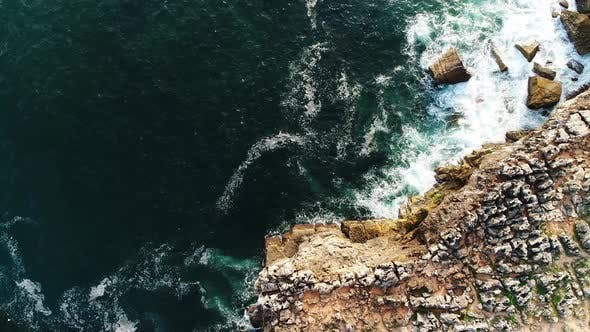 Thumbnail for Aerial View Above of Rock Formation on the Coast