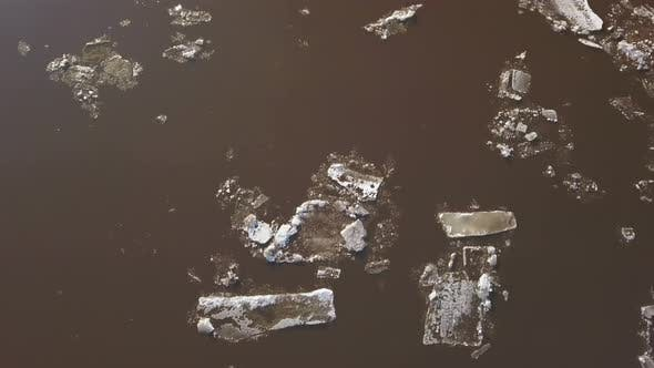 Thumbnail for The Ice Floes Floating on the River,The Ice Drift in Spring Time