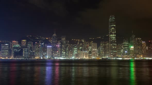 Thumbnail for Night View From the Quay To the Central Hong Kong