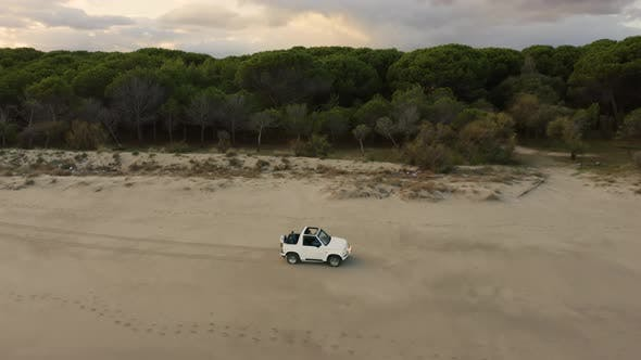 Jeep off road near the ocean