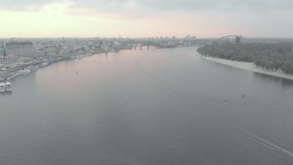 Thumbnail for Dnipro River. Kyiv. Ukraine. Aerial View