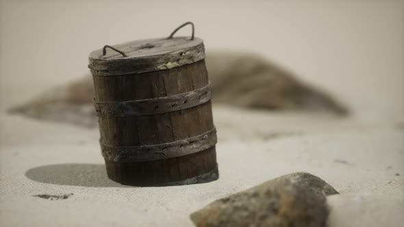 Thumbnail for Alte Holzkorb am Sand am Strand