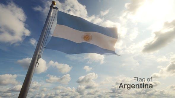 Thumbnail for Argentina Flag on a Flagpole