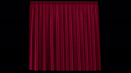 Swinging Red Velvet Curtain with Alpha Channel