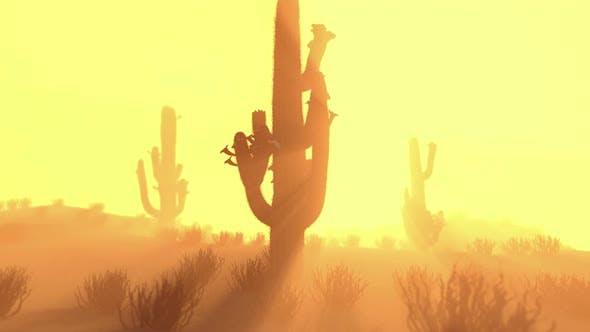Saguaro Cactus Silhouette