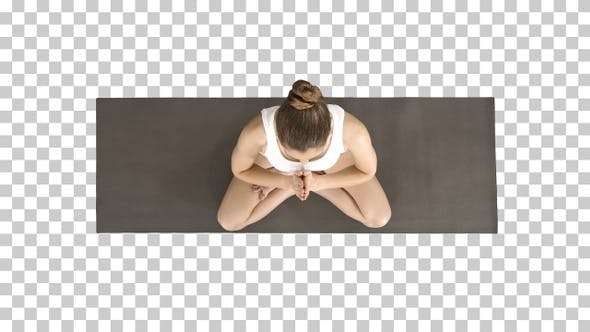 Thumbnail for Young yogi woman practicing yoga making namaste gesture in