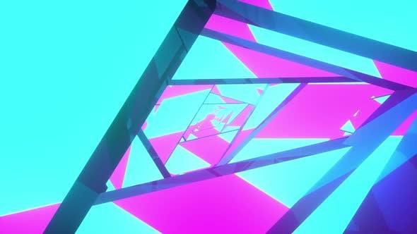 Geometric Purple Animated Background