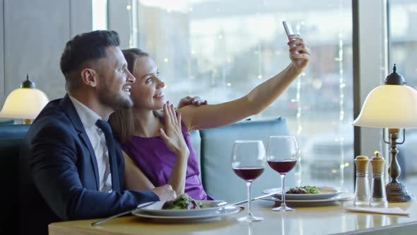 Thumbnail for Engaged Couple Taking Selfie on Date