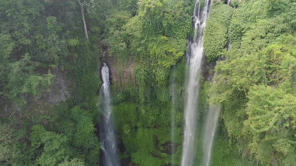 Thumbnail for Beautiful Tropical Waterfall Bali, Indonesia