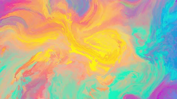 Thumbnail for Abstract Ink Background Magical Painting Colors