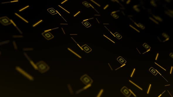 Thumbnail for Yellow Geometry Background Loop