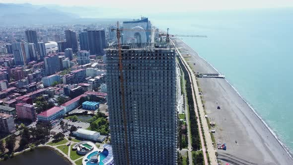 Building Process, Making Construction Aerial View