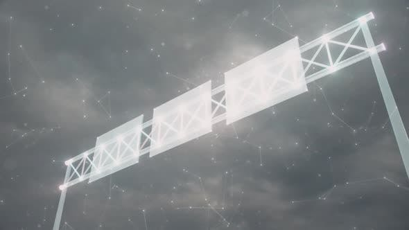Highway Overhead Signs Hologram Hd