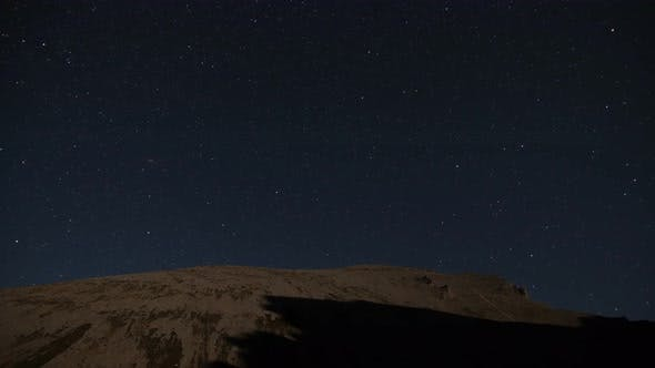 Thumbnail for Time Lapse of Starry Sky in the Mountains