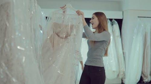 Happy Girls Choose a Wedding Dress