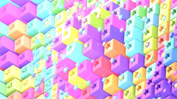 Pixel Cubes And Stars