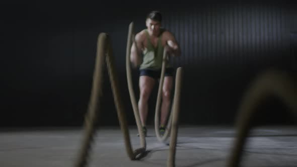 Thumbnail for Sportsman Training with Battle Ropes