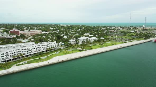 Thumbnail for Aerial drone video scene in Key West FL USA