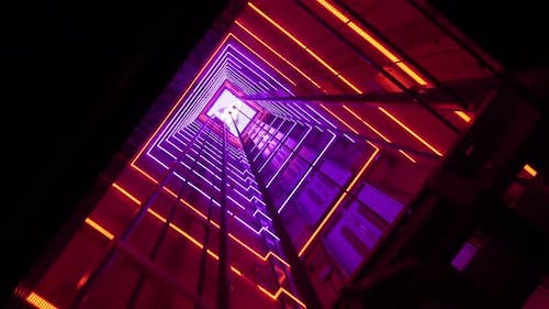 Lighting Effects In The Elevator Shaft