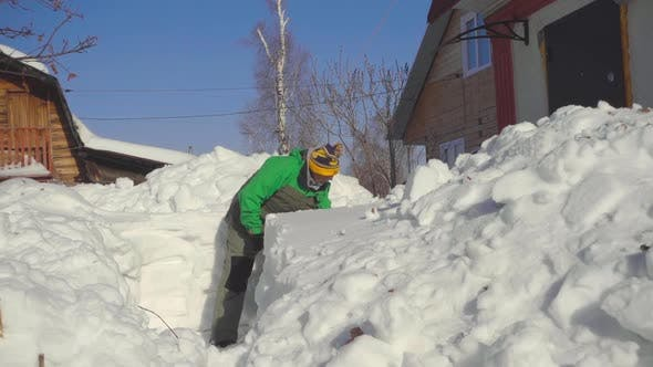 Thumbnail for Man Shoveling Snow After Snow Storm
