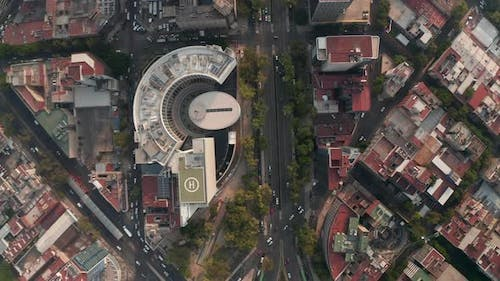 Top Down View of Streets in Mexico City