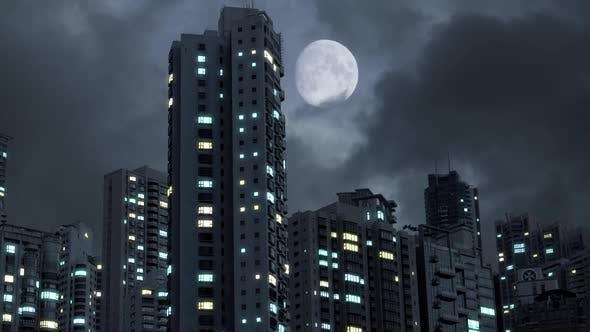 Blackout In Modern Futuristic Cyber City