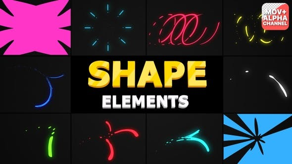 Flying Shapes | Motion Graphics