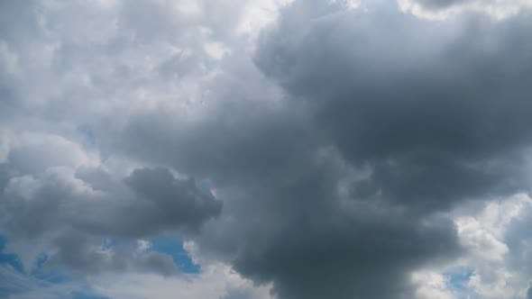 Thumbnail for Storm Clouds Are Moving in Sky, Timelapse.