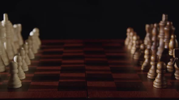 Thumbnail for Wood Chess Pieces On Chessboard 11