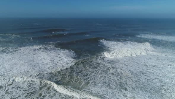 Thumbnail for Aerial of Big Waves of Atlantic Ocean in Nazare