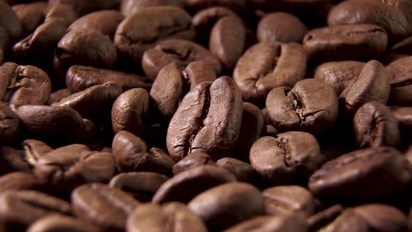Thumbnail for Rotating Shot of Delicious Roasted Coffee Beans