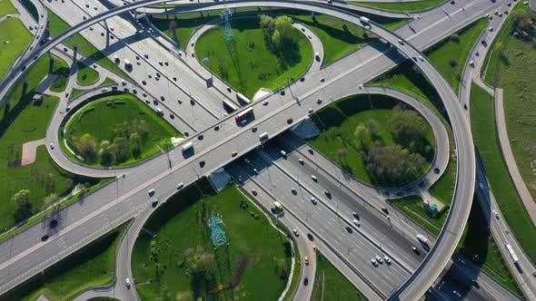 Thumbnail for Freeway Intersection Traffic Rrails in Moscow