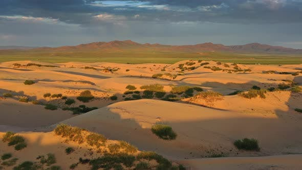 Thumbnail for Aerial View of the Sand Dunes at Sunrise
