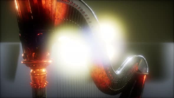 Thumbnail for Harp Instrument in Dark