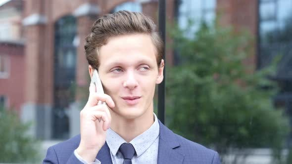 Thumbnail for Attending Phone Call, Negotiation about New Project by Businessman