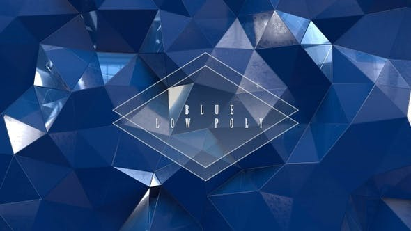 Thumbnail for Blue Low Poly With Glass