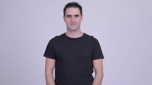 Thumbnail for Handsome Man Against White Background