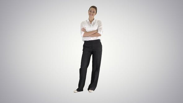 Thumbnail for Smiling Female Business Leader Standing And Smiling To