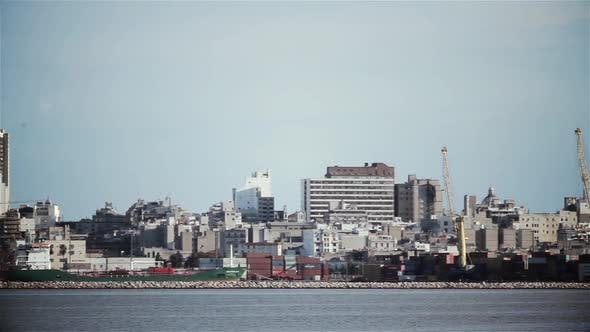 Cover Image for Montevideo City and Harbor in Uruguay.