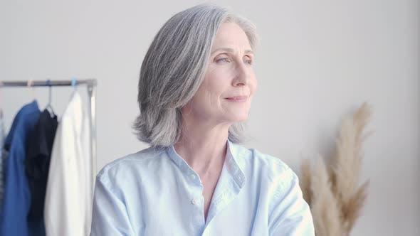 Confident Older Woman Fashion Designer Small Business Owner Portrait