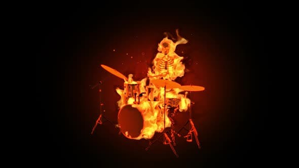Burning Skeleton - Drums Show