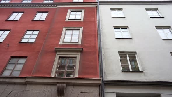 Cover Image for Apartment Buildings on European Streets in Old City, Scandinavian Windows