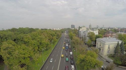 Luftaufnahme des Aviators Boulevard