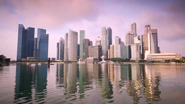 Thumbnail for Dawn over Singapore and Reflections