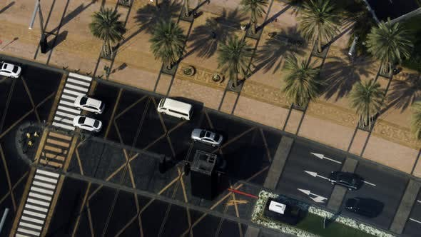 Thumbnail for Aerial View of Cars Drive in the City
