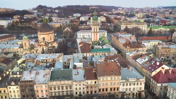 Thumbnail for Top View of the Center of Lviv City